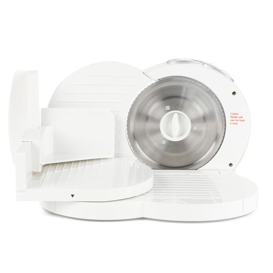 Progress EK3683P Electric Food Slicer, White, 150 W