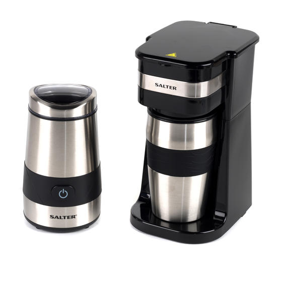 Salter COMBO-4773 Digital Coffee Maker to Go and Coffee & Spice Grinder