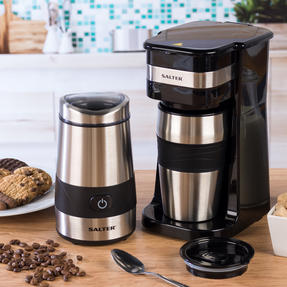 Salter COMBO-4773 Digital Coffee Maker to Go and Coffee & Spice Grinder Thumbnail 2