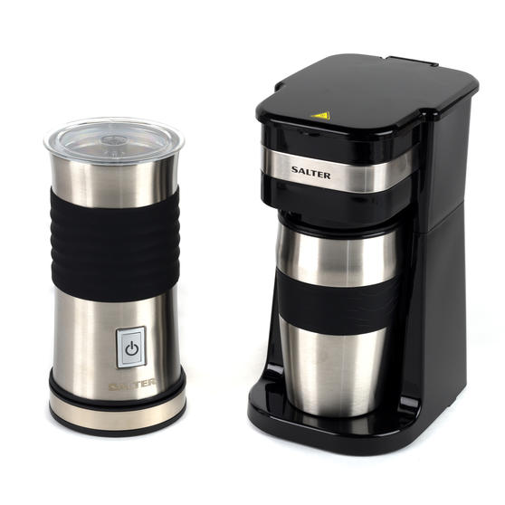 Salter COMBO-4774 Digital Coffee Maker to Go and Milk Frother