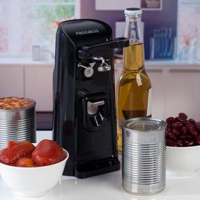 Progress EK3589P 3-in-1 Hands Free Electric Tin Can Opener, Knife Sharpener and Bottle Opener, 80 W Thumbnail 10