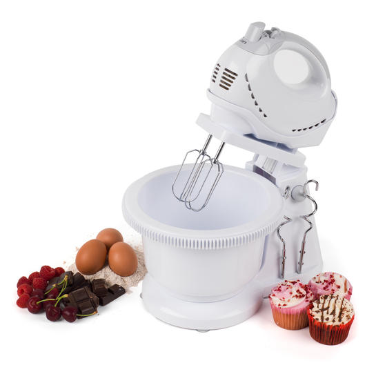 Progress Twin Hand and Stand Mixer, 250 W, White