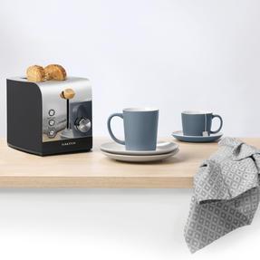 Salter EK3618BLACK Skandi 2-Slice Toaster, Black Thumbnail 2