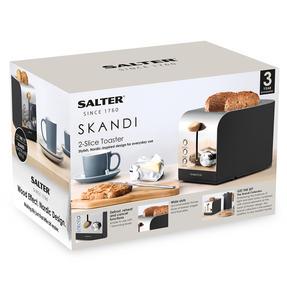 Salter EK3618BLACK Skandi 2-Slice Toaster, Black Thumbnail 7