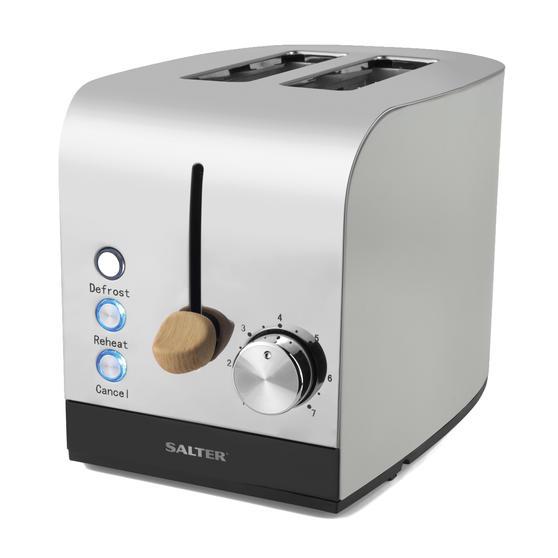 Salter EK3618GRY Skandi 2-Slice Toaster, Grey