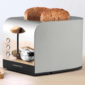 Salter EK3618GRY Skandi 2-Slice Toaster, Grey Thumbnail 2
