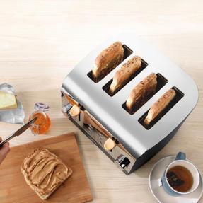 Salter EK3619BLACK Skandi 4-Slice Toaster, Black Thumbnail 4