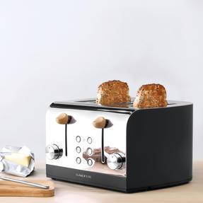 Salter EK3619BLACK Skandi 4-Slice Toaster, Black Thumbnail 5