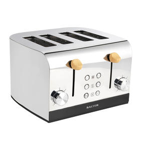 Skandi 4-Slice Toaster, Grey Thumbnail 1