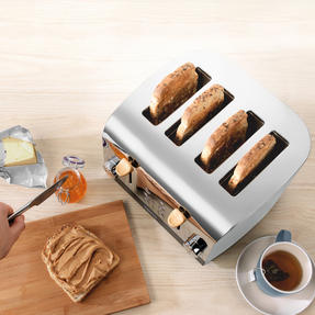 Skandi 4-Slice Toaster, Grey Thumbnail 5