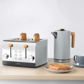 Skandi 4-Slice Toaster, Grey Thumbnail 6