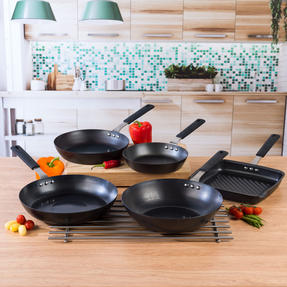 Salter COMBO-5081 Pan for Life Complete Cookware Pan Collection with Fry Pans, Wok and Griddle Pan, 5 Piece Thumbnail 2