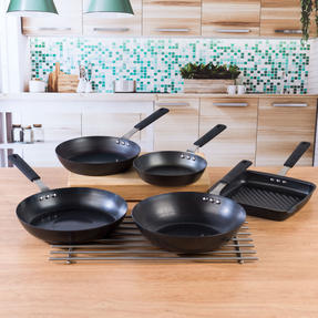 Salter COMBO-5081 Pan for Life Complete Cookware Pan Collection with Fry Pans, Wok and Griddle Pan, 5 Piece Thumbnail 4
