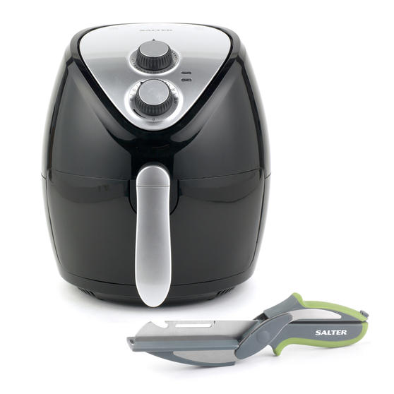 Salter COMBO-5116 Healthy Cooking Air Fryer with 3-in-1 Prep Multipurpose Scissors, 3.2 Litre, 1300 W