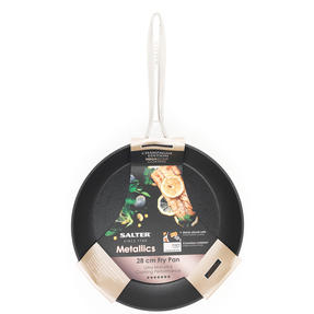 Salter BW07844C Forged Aluminium Metallic Non-Stick Frying Pan, 28 cm, Champagne Thumbnail 7