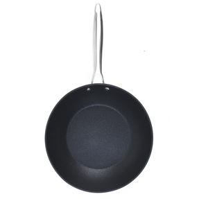 Salter BW07848C Forged Aluminium Metallic Non-Stick Stir Fry Pan, 28 cm, Champagne, 10 Year Guarantee Thumbnail 3