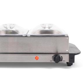 Progress EK3664P Portable Three Pan Food Warmer Buffet Server, 3 x 1.5 Litre Pans, Stainless Steel, 200 W Thumbnail 2