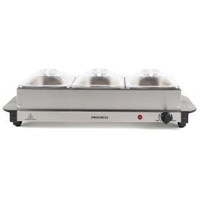 Progress EK3664P Portable Three Pan Food Warmer Buffet Server, 3 x 1.5 Litre Pans, Stainless Steel, 200 W Thumbnail 3