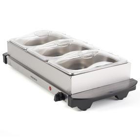 Progress EK3664P Portable Three Pan Food Warmer Buffet Server, 3 x 1.5 Litre Pans, Stainless Steel, 200 W Thumbnail 5
