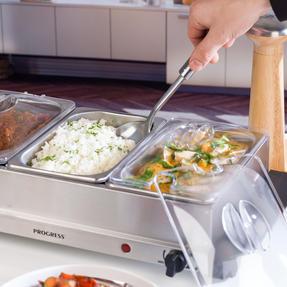 Progress EK3664P Portable Three Pan Food Warmer Buffet Server, 3 x 1.5 Litre Pans, Stainless Steel, 200 W Thumbnail 6