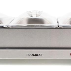 Progress EK3664P Portable Three Pan Food Warmer Buffet Server, 3 x 1.5 Litre Pans, Stainless Steel, 200 W Thumbnail 9
