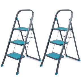 Beldray COMBO-5209 3 Step DIY Hobby Stepladder, Turquoise, Set of 2