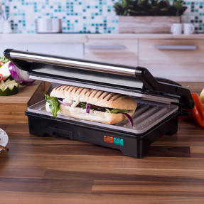 Salter COMBO-5213 Marble Collection 2-in-1 Fold-Out Health Grill with Additional Manual Meat Mincer, 750 W Thumbnail 4