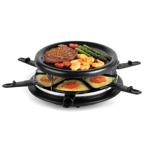 Giles & Posner 6-Piece Non-Stick Stone Raclette Grill, 900 W