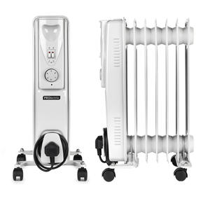 Prolectrix COMBO-5272 Portable 7 Fin Oil-Filled Radiator, 1500 W, White, Set of 2