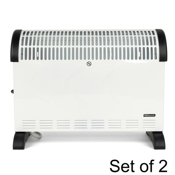 Prolectrix COMBO-5273 Electric Portable Convector Heater, 2000 W, White, Set of 2