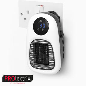 Prolectrix COMBO-5274 Digital Plug-In Portable Mini Heater with LED Display, 500 W, Set of 2 Thumbnail 2