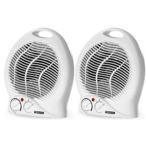 Prolectrix COMBO-5276 Portable Fan Assisted Heater with Cool Air Function, 1000/2000W, White, Set of 2