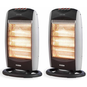 Prolectrix COMBO-5277 Halogen Heater, 1200 W, Grey, Set of 2