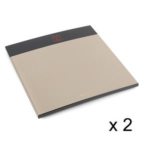 Medisana COMBO-5244 XL Digital Bathroom Scale, Large Surface Area, Max Load 200 KG (Stones/kgs/lbs), Set of 2
