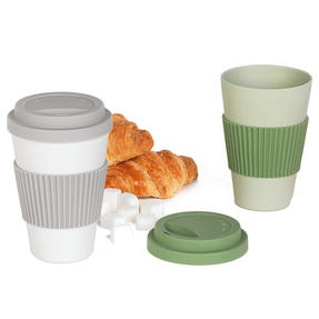 Salter COMBO-4786 Earth Lightweight Reusable Travel Cup, Set of 2, Grey/Green | Alternative to Single Use Plastic Cups