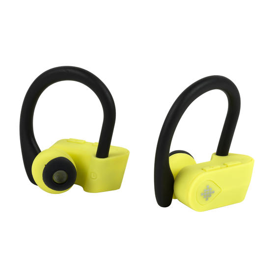 Intempo EE3888YELBLKSTKEUAIR Active TWS 10 Wireless Bluetooth Earphones, Yellow/Black
