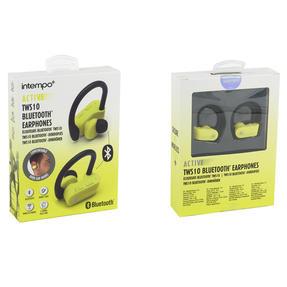 Intempo EE3888YELBLKSTKEUAIR Active TWS 10 Wireless Bluetooth Earphones, Yellow/Black Thumbnail 8