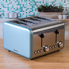 Salter EK3352BLUE Metallics Polaris 4-Slice Toaster, 1500 W, Pearl Blue Edition Thumbnail 3