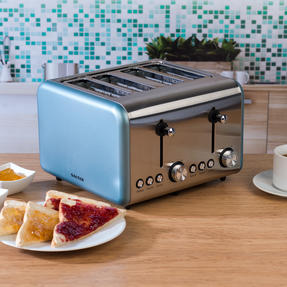 Salter EK3352BLUE Metallics Polaris 4-Slice Toaster, 1500 W, Pearl Blue Edition Thumbnail 4