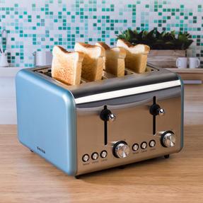 Salter EK3352BLUE Metallics Polaris 4-Slice Toaster, 1500 W, Pearl Blue Edition Thumbnail 5