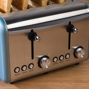Salter EK3352BLUE Metallics Polaris 4-Slice Toaster, 1500 W, Pearl Blue Edition Thumbnail 7