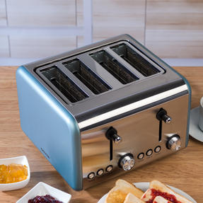 Salter EK3352BLUE Metallics Polaris 4-Slice Toaster, 1500 W, Pearl Blue Edition Thumbnail 8