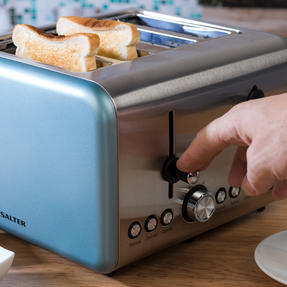 Salter EK3352BLUE Metallics Polaris 4-Slice Toaster, 1500 W, Pearl Blue Edition Thumbnail 9