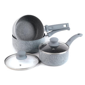 Russell Hobbs COMBO-5326 Stone Collection 5-Piece Frying Pan and Saucepan Set, 16/18/20/24 cm, Daybreak Thumbnail 6