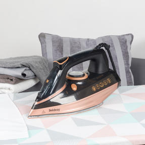 Beldray BEL0820RG Ultra Ceramic Steam Iron with Dual Soleplate Technology, 3100 W, 300 ml, Rose Gold Thumbnail 7