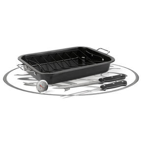 Russell Hobbs RH00367RDFOB 5-Piece Roaster and Rack Set, Carbon Steel