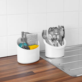 Beldray COMBO-5364 Plastic 2-in-1 Cutlery Drainer and Holder/Kids Desk Tidy, Pencil Pot, Storage Organiser, White, Set of 5 Thumbnail 9