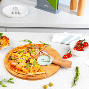 Six Slice Bamboo Pizza Serving Board, 12 Inches/30 cm Thumbnail 6