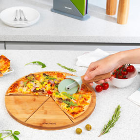 Six Slice Bamboo Pizza Serving Board, 12 Inches/30 cm Thumbnail 7