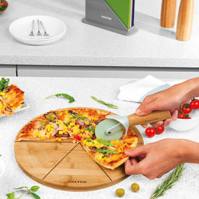 Six Slice Bamboo Pizza Serving Board, 12 Inches/30 cm Thumbnail 8